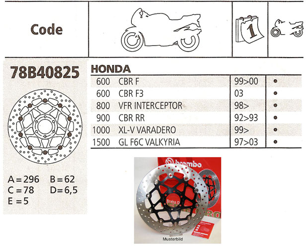 Brembo Brake Disc Performance Serie Oro 78B40825, front