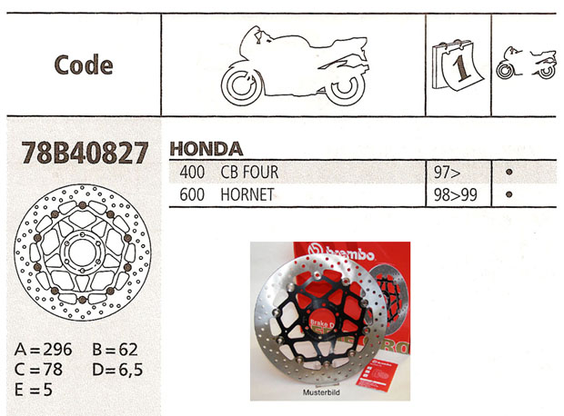 Brembo Brake Disc Performance Serie Oro 78B40827, front