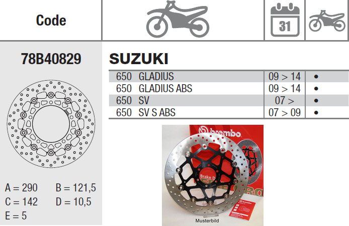 Brembo Brake Disc Performance Serie Oro 78B40829, front
