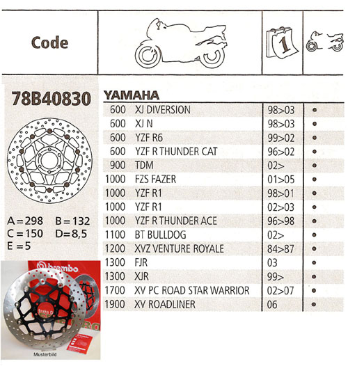 Brembo Brake Disc Performance Serie Oro 78B40830, front