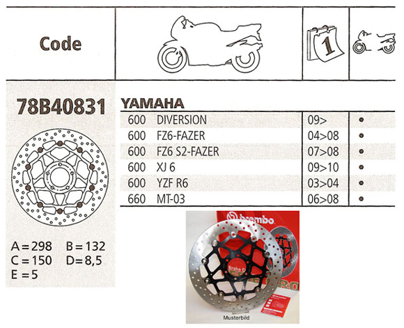 Brembo Brake Disc Performance Serie Oro 78B40831, front