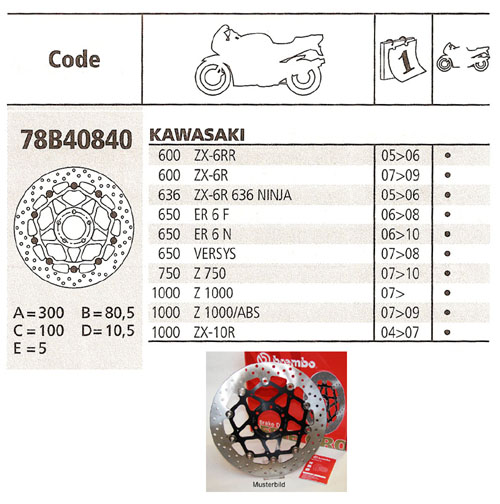 Brembo Brake Disc Performance Serie Oro 78B40840, front