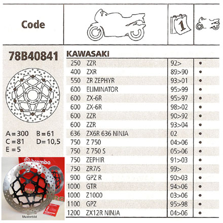 Brembo Brake Disc Performance Serie Oro 78B40841, front