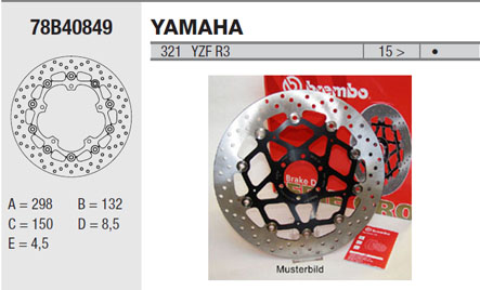 Brembo Brake Disc Performance Serie Oro 78B40849, front