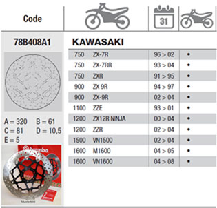 Brembo Brake Disc Performance Serie Oro 78B408A1, front