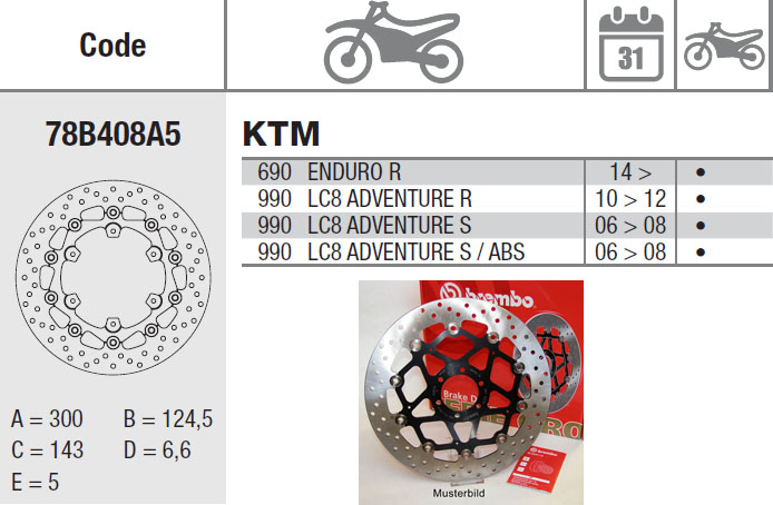 Brembo Brake Disc Performance Serie Oro 78B408A5, front