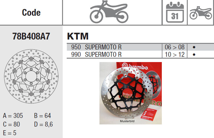 Brembo Brake Disc Performance Serie Oro 78B408A7, front