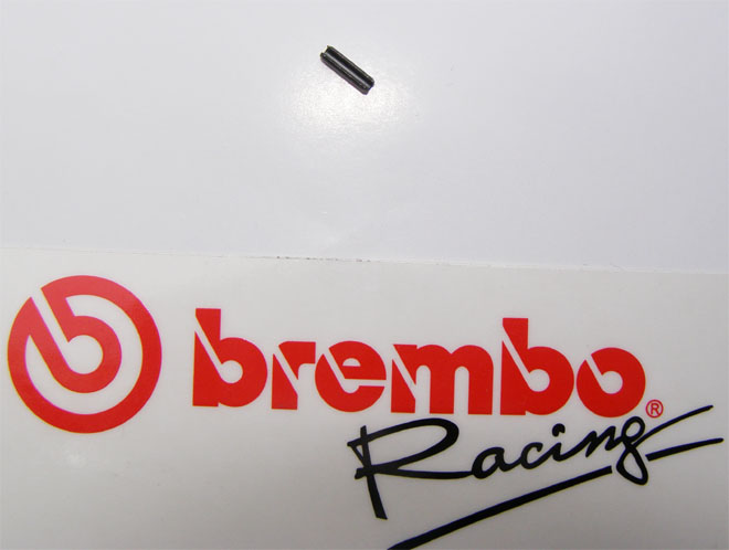 Brembo retaining pin for adjustment knob for PR 19/16