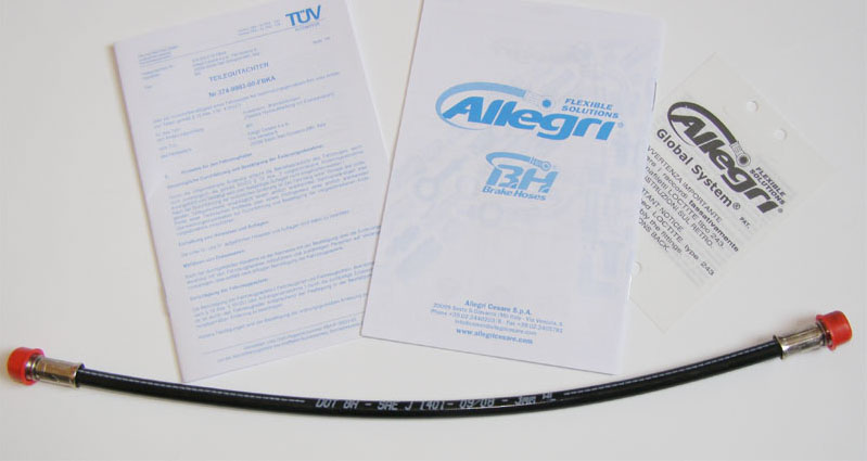 4GS1300N Global System Brake Hose, schwarz
