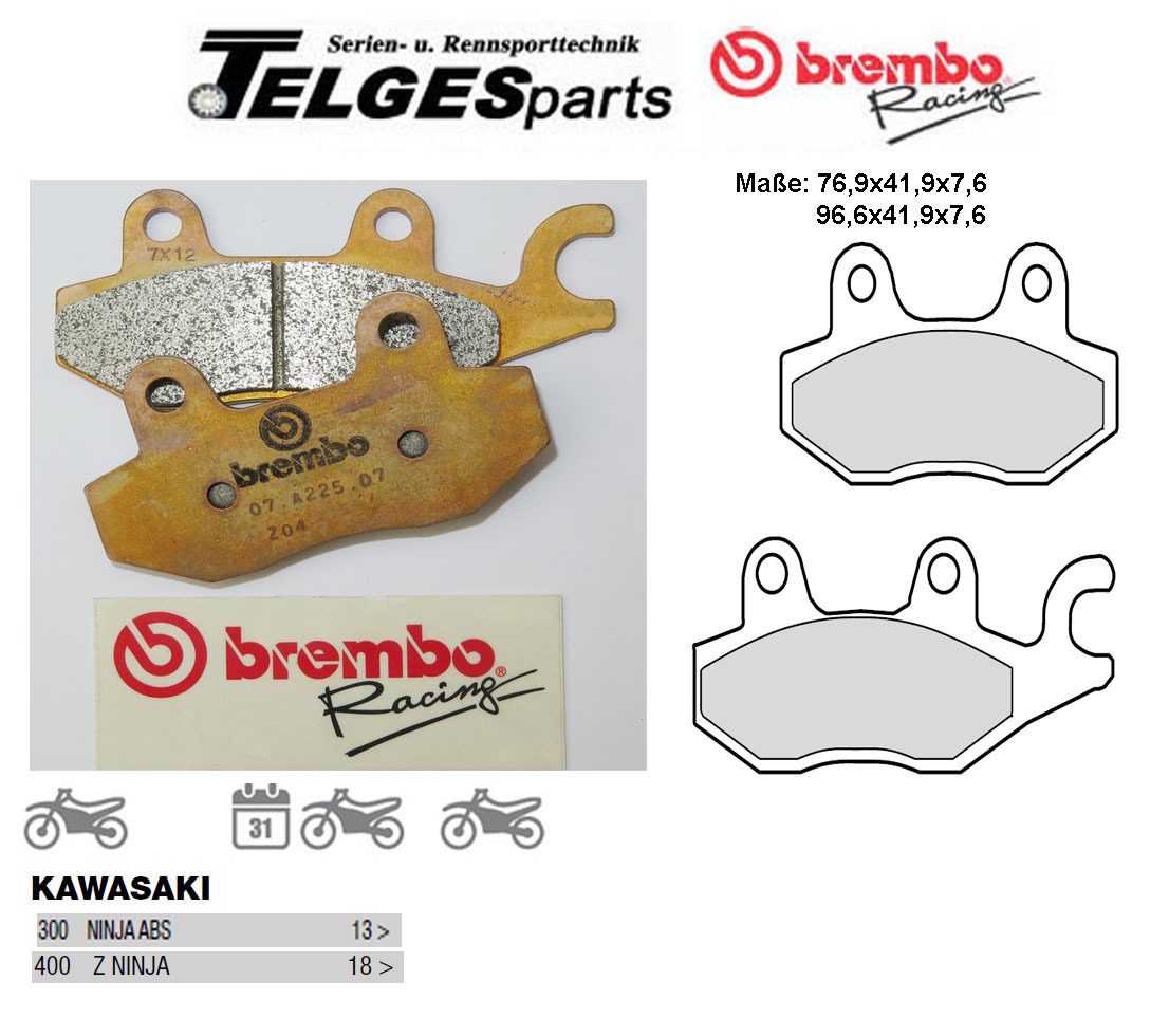 Brembo Pure Racing-Brake Pads Z04, M088Z04