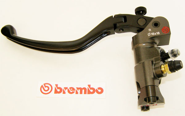 Brembo Radial Clutch Master Cylinder PR16x16, CNC, lever