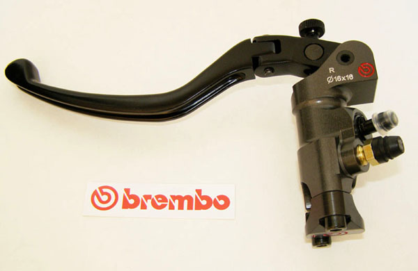 Brembo Radial Clutch Master Cylinder PR16x18, CNC, lever folding